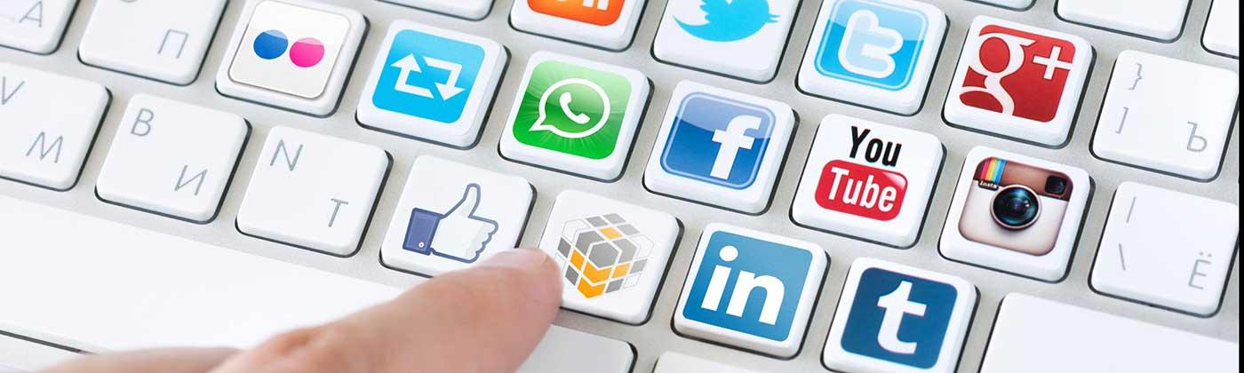 redes sociales twitter facebook linkedin
