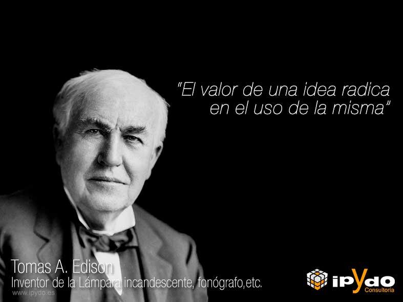 Frase Célebre - Tomas A. Edison - Alicante - Ingeniería