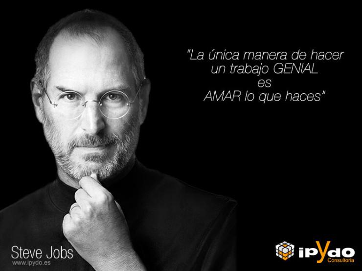 Frase Célebre de Steve Jobs en el día del Trabajador por Consultoría ipYdo S.L.